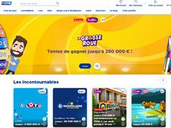 Le site FDJ en ligne (La Française des Jeux)